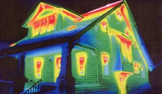 Thermal imaging of a home
